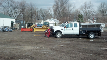 Snow Removal Equipement in Yard